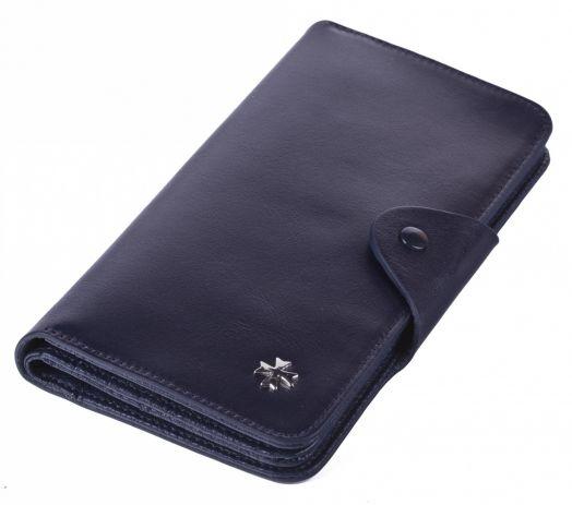 Бумажник кожаный NarVin 9650-N.Vegetta D.Blue