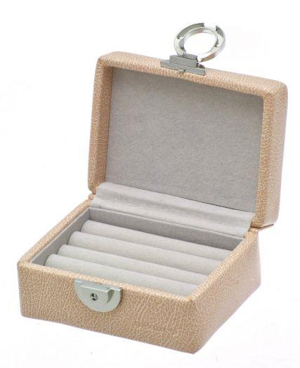 Маленькая шкатулка для колец бледно-коричневого цвета Davidts Euclide 367730-57