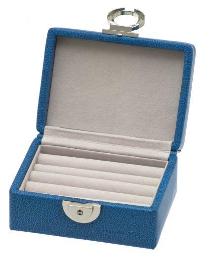 Маленькая шкатулка для колец голубого цвета Davidts Euclide 367730-85