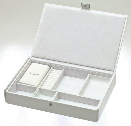 Большая шкатулка для украшений белого цвета Davidts Glamour 349400-09