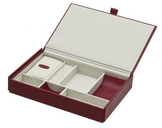 Большая шкатулка для украшений красного цвета Davidts Glamour 349400-84